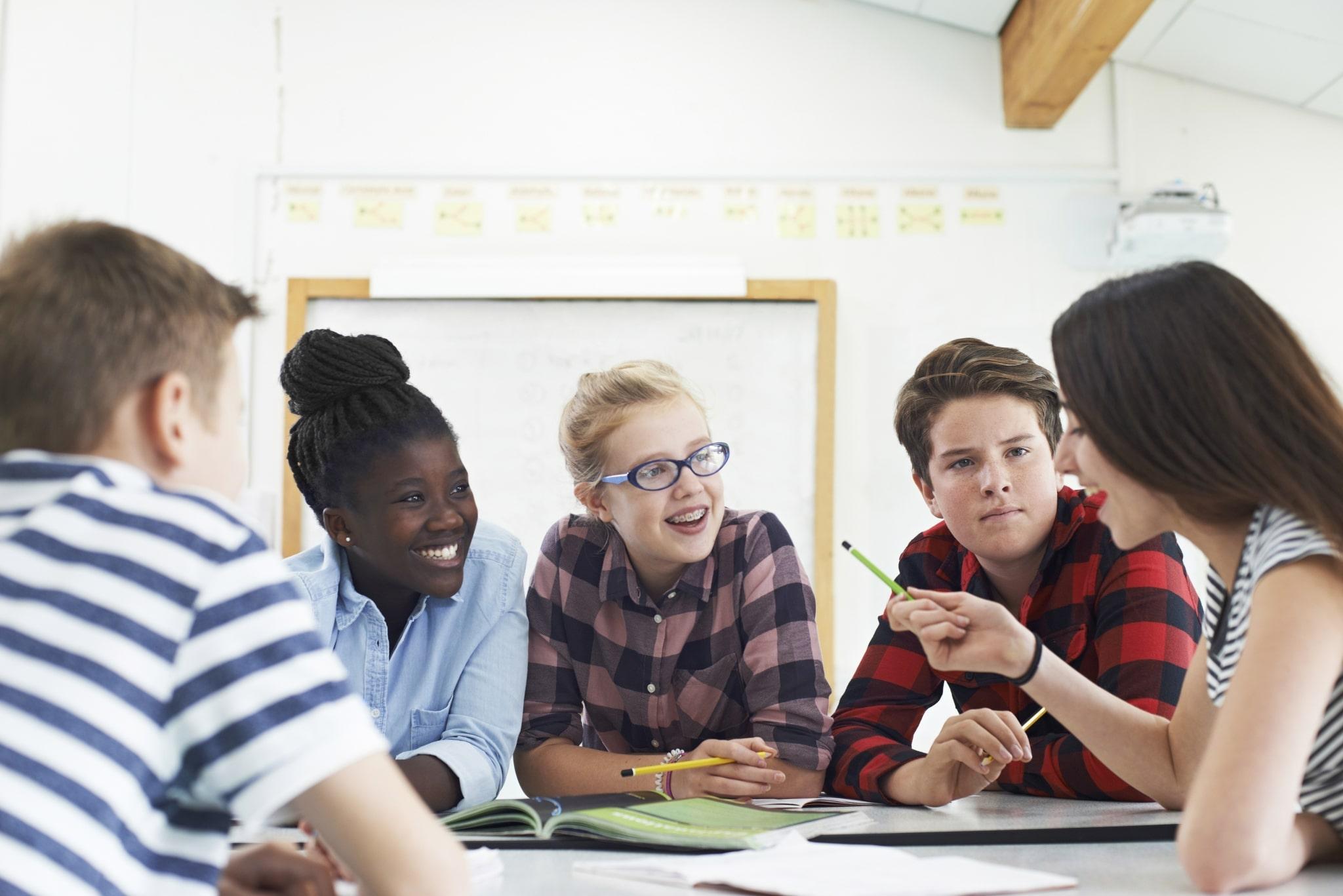 Kinder werden gemeinsam unterrichtet